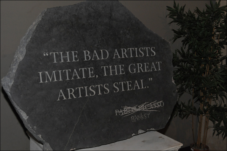 banksy quotes on art. In one piece Banksy surpasses