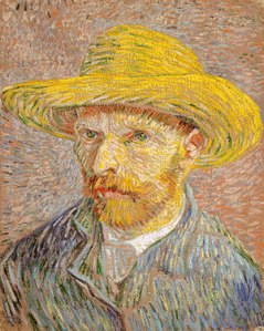 Self-Portrait with a Straw Hat
