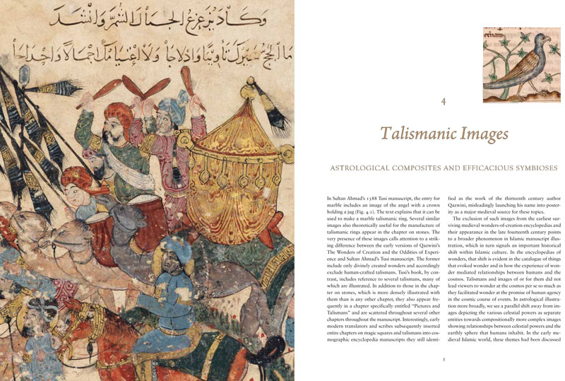 Page spreads from Wonder, Image, and Cosmos in Medieval Islam