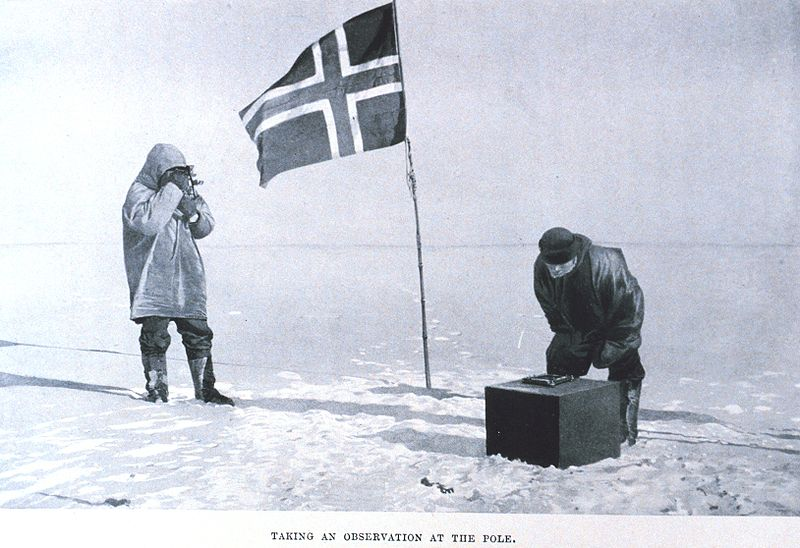 Amundsen's crew at the South Pole