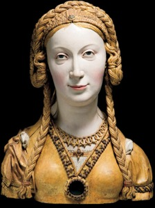 Reliquary bust of an unknown female saint, probably a companion of St Ursula. South Netherlandish, c. 1520–1530