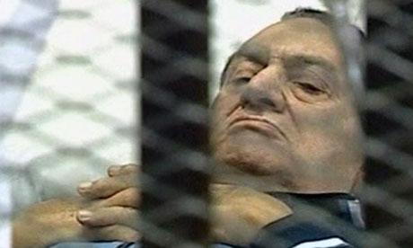 Hosni Mubarak on trial in Cairo today