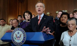US Senate majority leader Harry Reid talks about the debt limit negotiations.