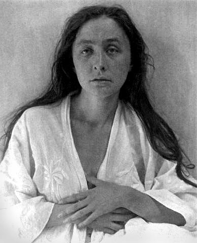 A Stieglitz portrait of Georgia O'Keeffe.