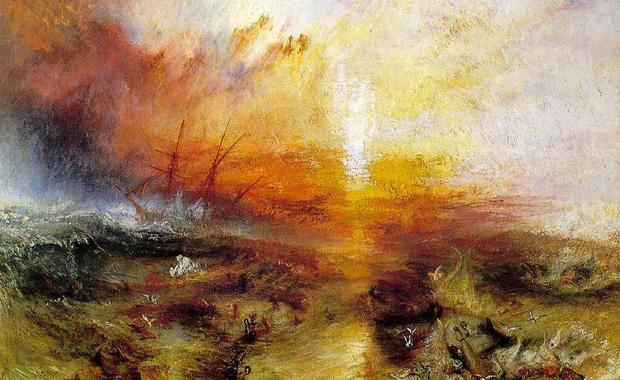 the slave ship j m w turner 2018-5-31  j m w turner jump to  he had himself tied to a ship's mast during a  the slave ship or slavers throwing overboard the dead and dying—typhoon.