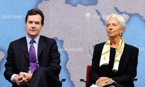George Osborne and the IMF's managing director, Christine Lagarde