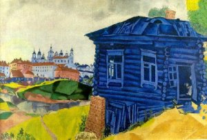 Marc Chagall, The Blue House (1917).
