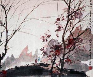 Landscapes of the Four Seasons (1950) by Fu Baoshi