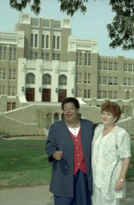 Elizabeth Eckford and Hazel Bryan at Little Rock Central High School (1997)