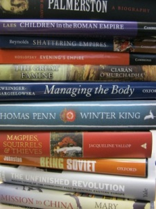 A selection of books in the Longman-History Today longlist