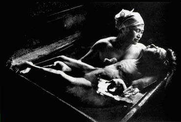 Tomoko Uemura in Her Bath (W. Eugene Smith, 1971)