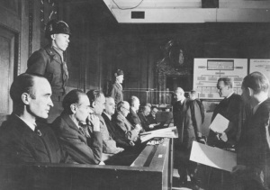 Defendants at the Krupp Trial (with Alfried Krupp on the left)