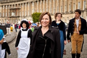 Vickery in her new TV show 'The Many Lovers of Miss Jane Austen'