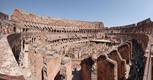 A panorama of the interior of the Colosseum