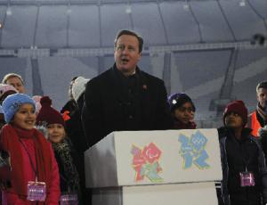David Cameron at the Olympic Park