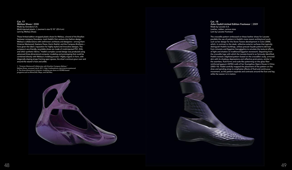 Shoes designed by Zaha Hadid