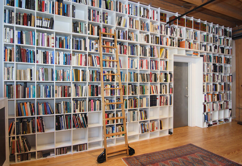 Rebecca Goldstein and Steven Pinker's impressive library
