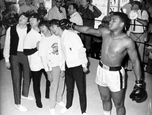 The Beatles meet Cassius Clay (Tuesday 18 February 1964)