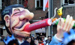 Float in Dusseldorf featuring Mahmoud Ahmadinejad