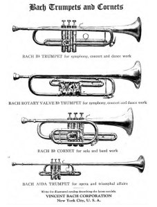 Advertisement for Bach Trumpets and Cornets (1925)