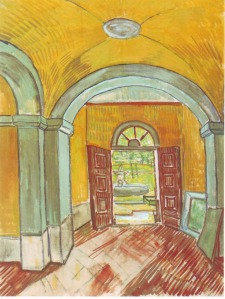 Vestibule of the Asylum, Van Gogh (1889)