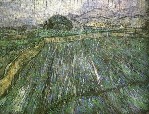 Rain (1889, Vincent Willem van Gogh, oil on canvas)