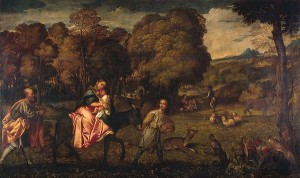 The Flight into Egypt, Titian