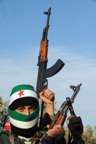 A member of the Free Syrian Army