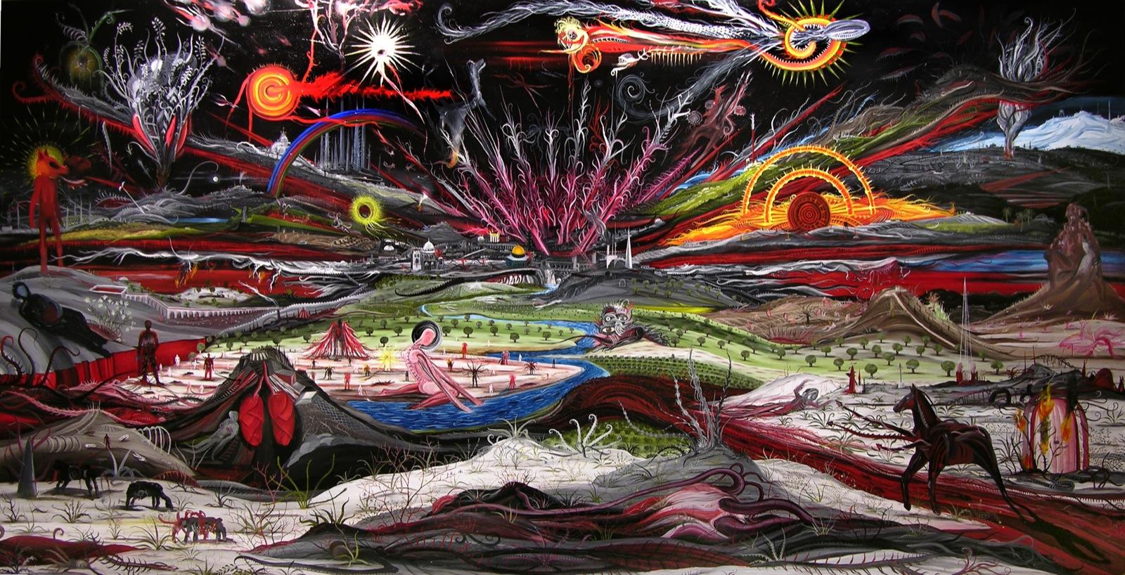 Landscape and Jerusalem (2007), Eliezer Sonnenschein