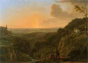 A view of the Roman Campagna from Tivoli, Claude Lorrain, 1644-5