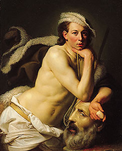 Johan Zoffany, Self-portrait as David with the head of Goliath, 1756