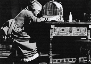 Meryl Streep in the title role of Miss Julie. Vassar College, 1969. (Courtesy of the Vassar College Drama Department Archives)
