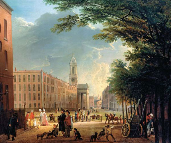 Elias Martin, 'View of Hanover Square', 1769