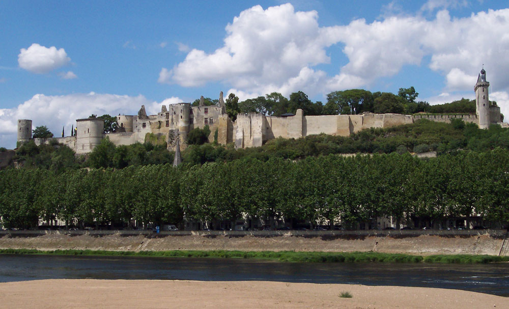 Chinon from other side of the river Vienne
