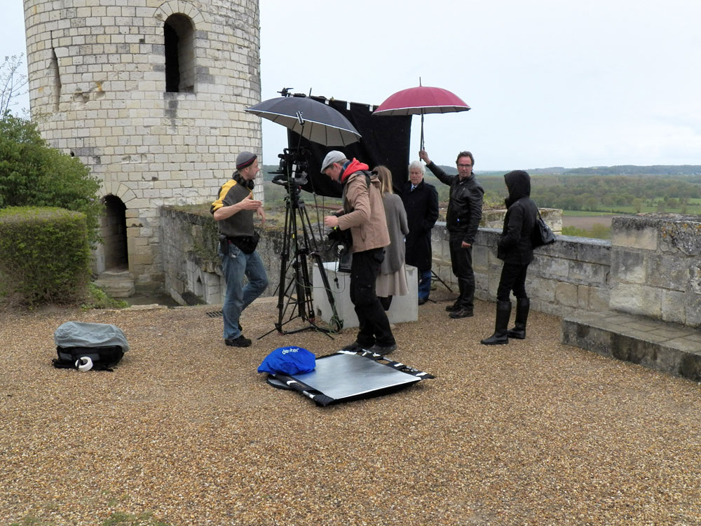 Filming at Chinon
