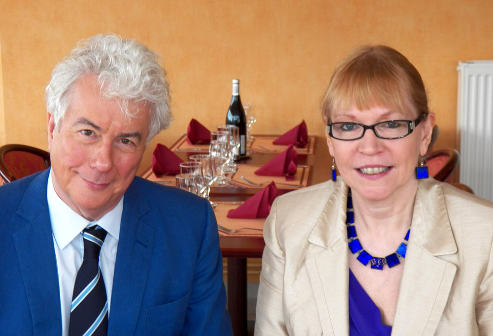 Ken Follett and Larissa Taylor in Chinon