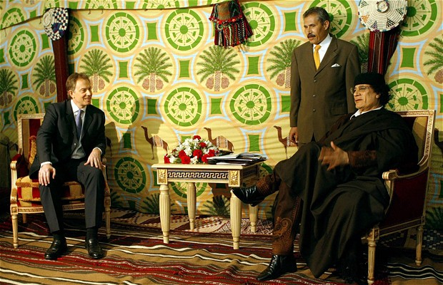 Tony Blair meets with Qaddafi
