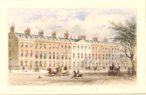 Thomas Hosmer Shepherd, East side of Bedford Square, 1851