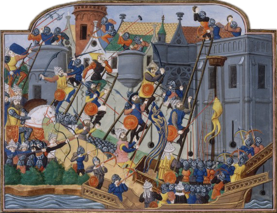 Siege of Constantinople, by Jean Chartier (1500-1580)