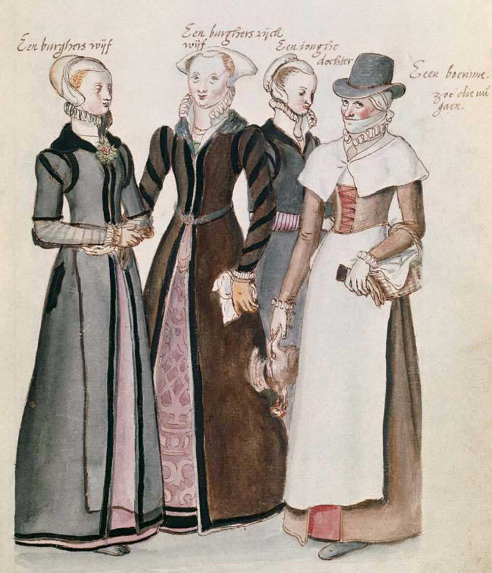 Drawing of Four Citizen's Wives