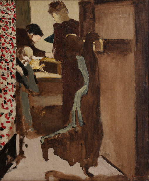 Edouard Vuillard, The Drawer, c. 1892, oil on canvas. V. Madrigal Collection, New York.